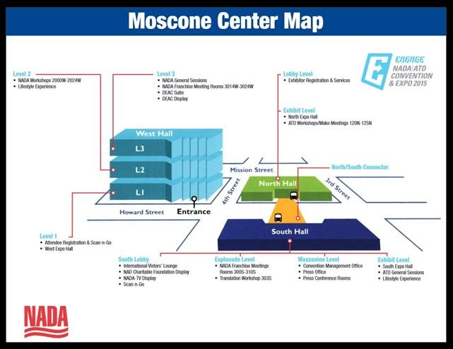 Moscone Center Map NADA 2015   Things To Do in San Francisco   NADA Information Moscone Center Map